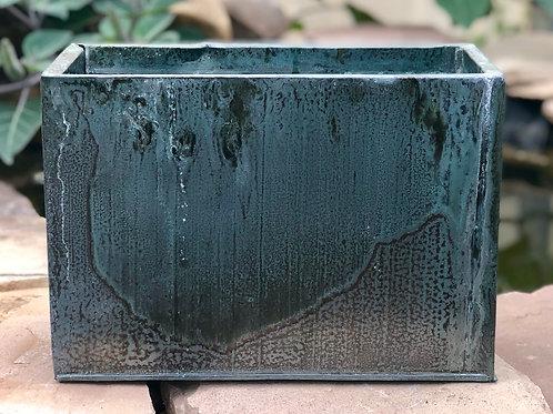 Lg Metal verdigris planter