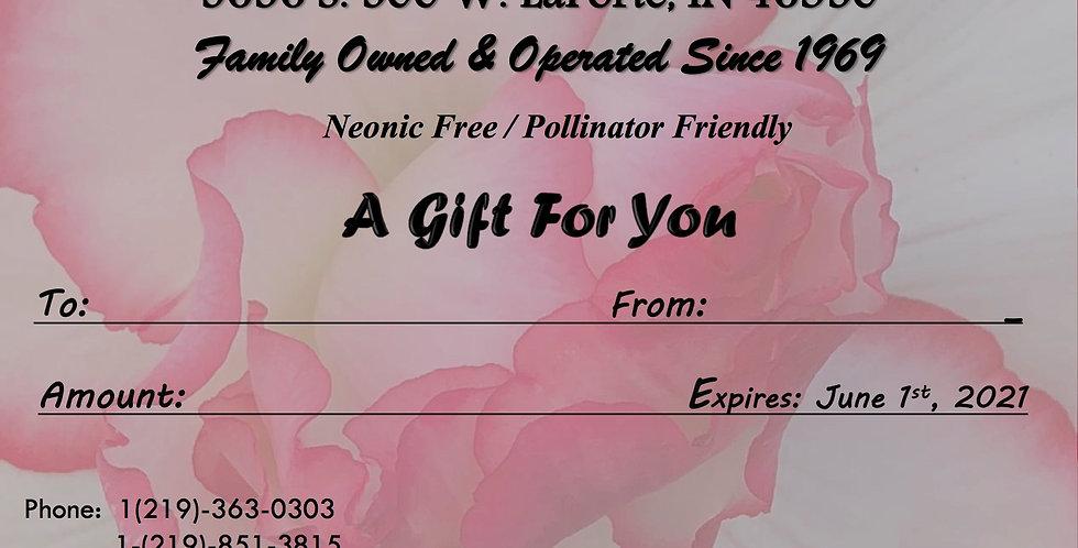 Gift Card (Begonia Theme)