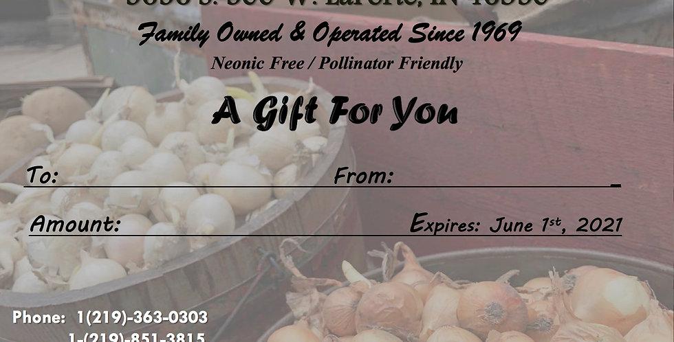 Gift Card (Onion Theme)