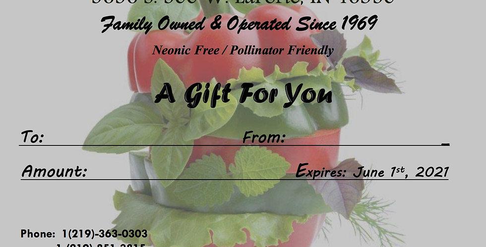 Gift Card (Pepper Theme)