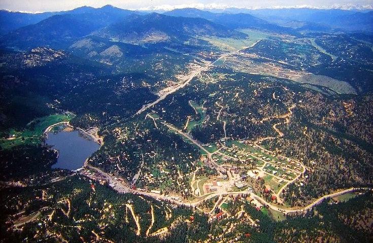 Aerial Photo of Evergreen, Colorado