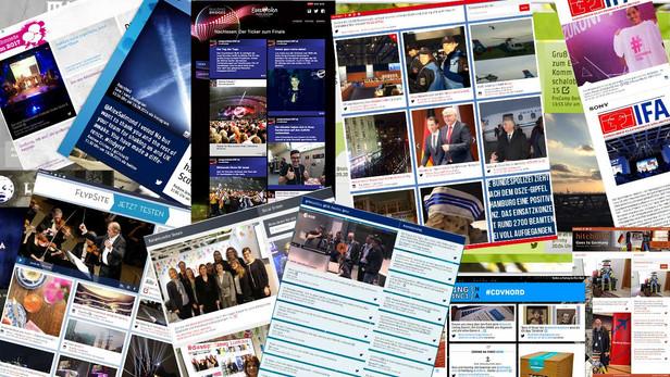 FLYPSITE ALS SOCIAL-MEDIA-WALL