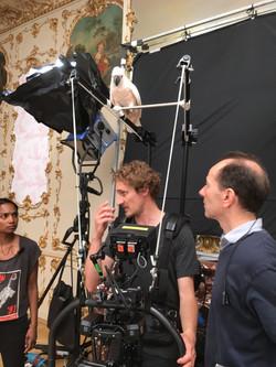 Hélène et ses perroquets tournage