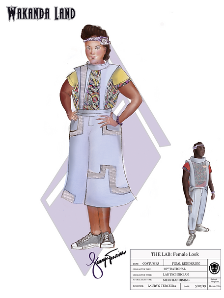 Wakanda Land Costume