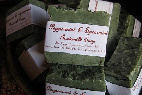 Peppermint & Spearmint Goats Milk Soap