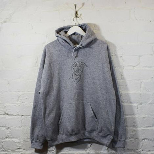 TUPAC OUTLINE EMBROIDERY HOODIE