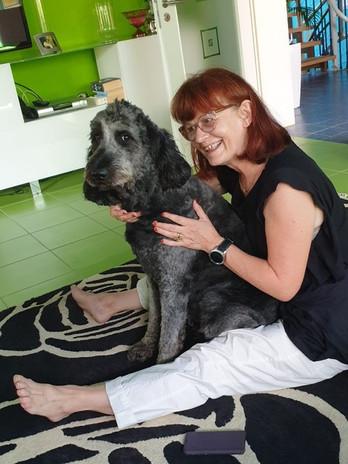 ハイディと愛犬KIA
