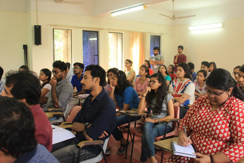 Audience in attention for Dr. Arun Kumar