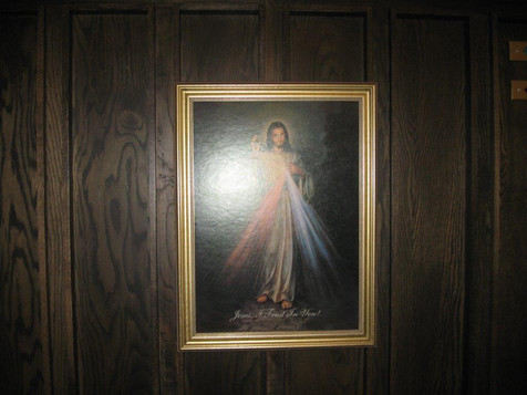 Divine Mercy picture on Confessional