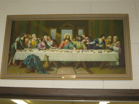 Last Supper in Social Hall