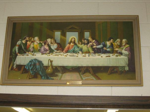 Last Supper in Social Hall