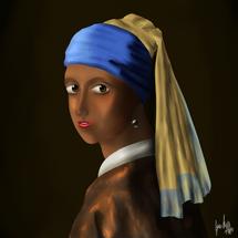 """Girl With Pearl Earring"" by Josanda Addo"