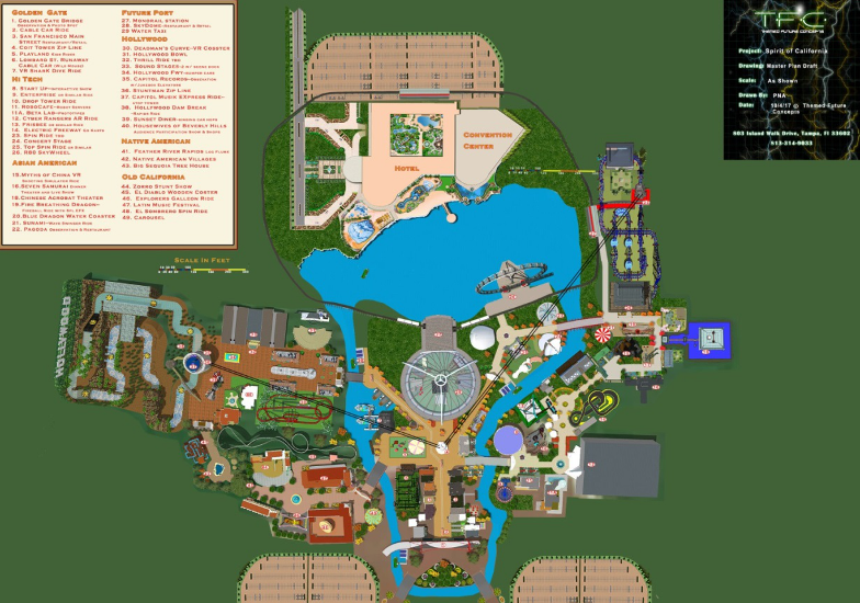 Spirit of California PHASE ONE SITE PLAN