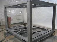 Sandblasting Metal Frames