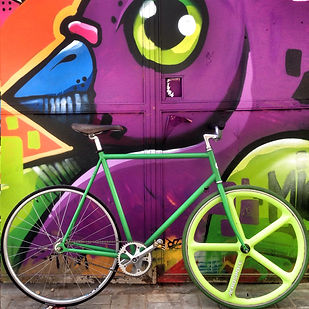 Fixie bicycle with aerospoke