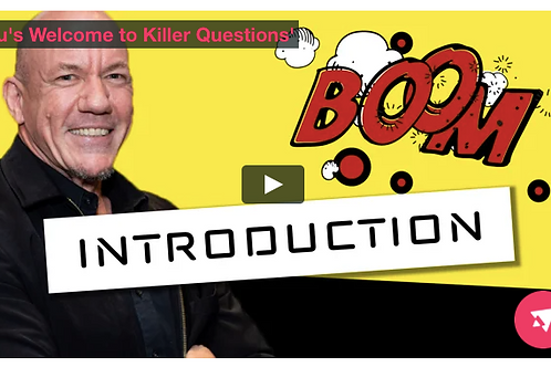 KILLER QUESTIONS - Online Training Program - Deluxe with 1 hour Coaching