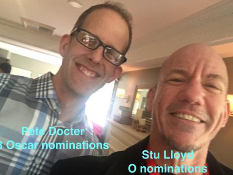 With Pixar director Pete Docter in LA..