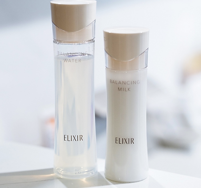 ELIXIR BALANCING WATER、MILK水油平衡收毛孔爽膚水、乳液