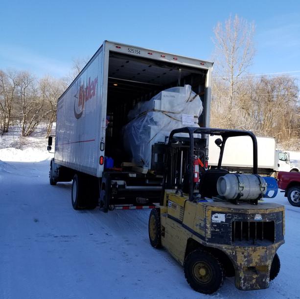 Koch Dowel Machine Delivery