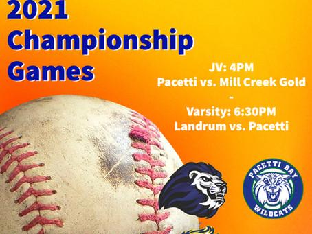2021 Baseball Championship Games