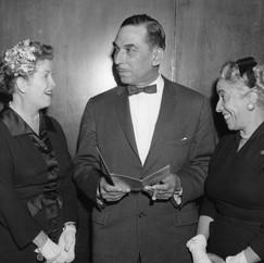 Kathryn Foran Furcolo (left) and hospital staff.