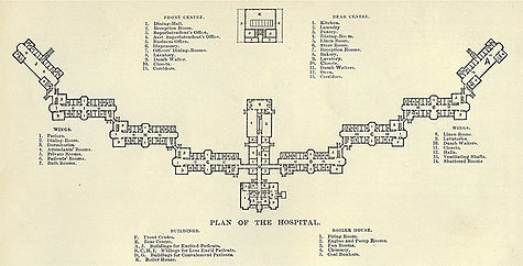 State Lunatic Hosital at Danvers plan