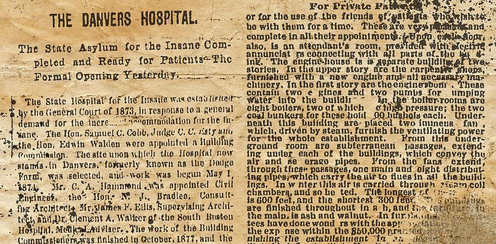 Danvers State Hospital Chronicles John Gray