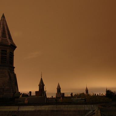 Turrets at night