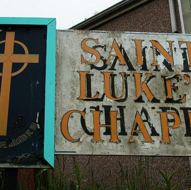 St. Lukes Chapel sign