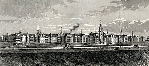 State Lunatic Hosital at Danvers drawing