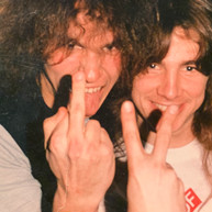 Larry Lalonde and myself (Possessed) 1987