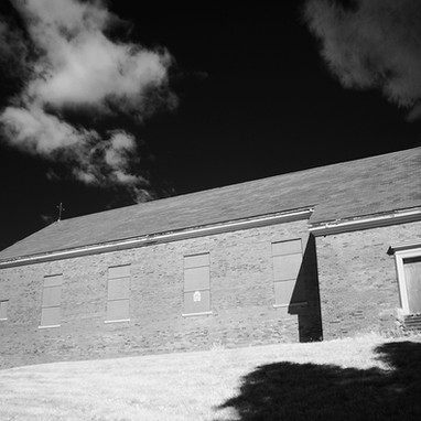 Our Lady of the Hill chapel infrared