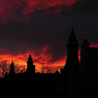 Turrets at sunrise