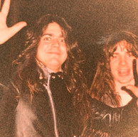 Mike Torrao and Larry Lalonde (Possessed) 1987