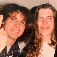 Jeff Becerra and myself (Possessed) 1987