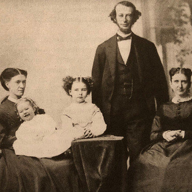 From left, Anna M. Vose, holding Helen Curtis Bradlee; Eleanor Bradlee; Nathaniel Bradlee; and Julia Weld Bradlee
