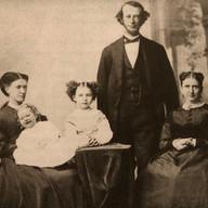 From left, Anna M. Vose, holding Helen Curtis Bradlee; Eleanor Bradlee; Nathaniel Bradlee; and Julia Weld Bradlee