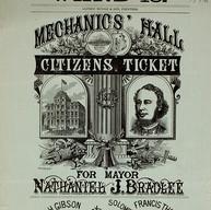 Bradlee's mayor ticket poster