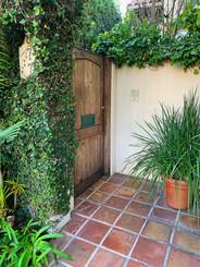 Nicole Brown Simpson's gate to her condo.