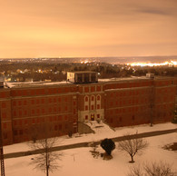 Bonner building from Kirkbride tower at night