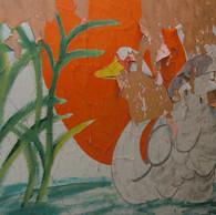 Painting in ward hallway