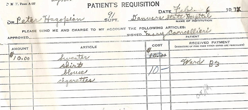 Danvers State Hospital Patient Abuse John Gray