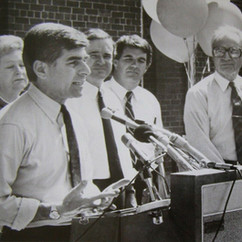 Governor Mike Dukakis at Met State June 25, 1987