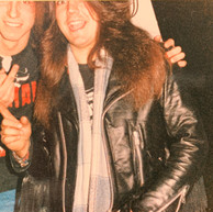 Mike Torrao and myself (Possessed) 1987