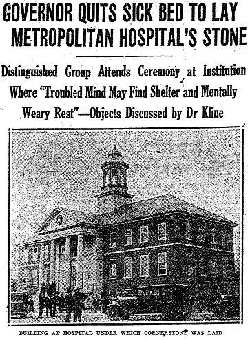 Metropolitan State Hospital 1928