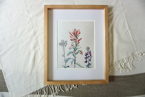 Wildflower Trio Fine Art Print 11x14