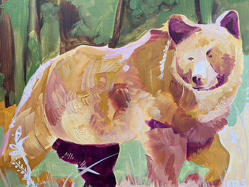 "Yellow Bear Fine Art Print 11""x14"""
