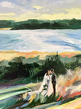 Bride and Groom added into the final painting
