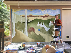 Boulder Mural - Family Outdoor Space