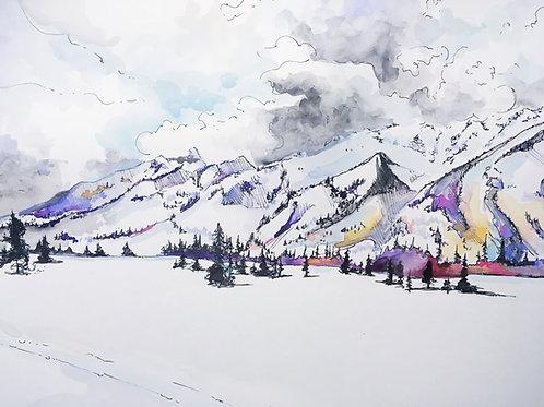 """Jenny Lake Watercolor  11""""x 14"""""""